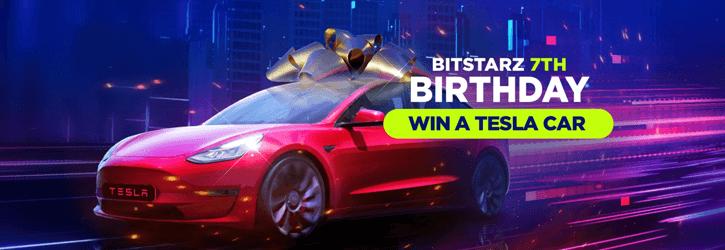 bitstarz casino birthday tesla car promo
