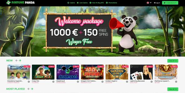 fortunepanda casino website screen