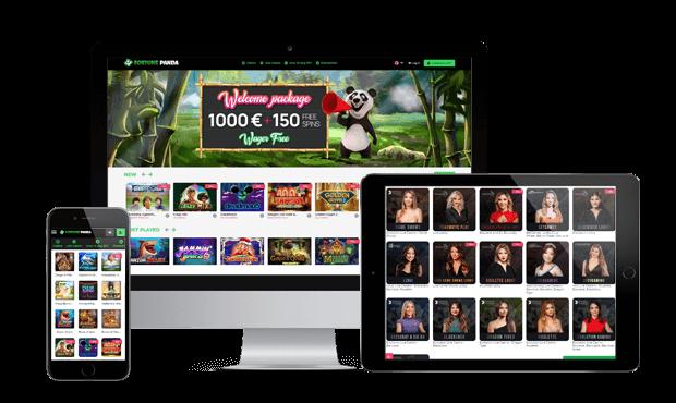 fortunepanda casino website screens