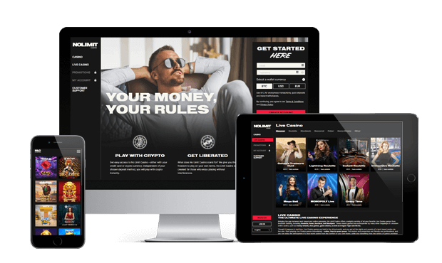 nolimit casino website screens