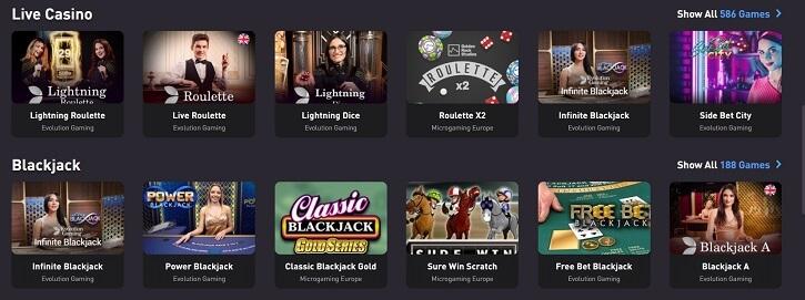rocketpot live casino