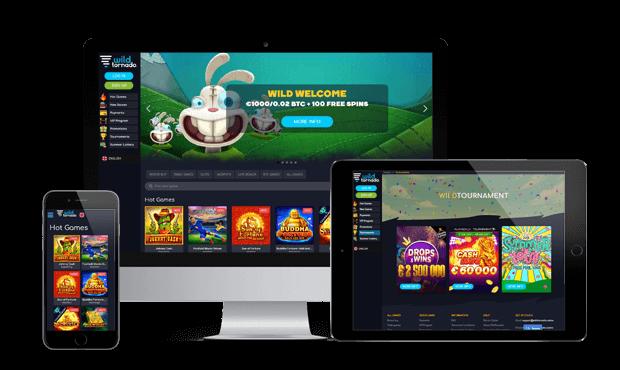 wildtornado casino website screens