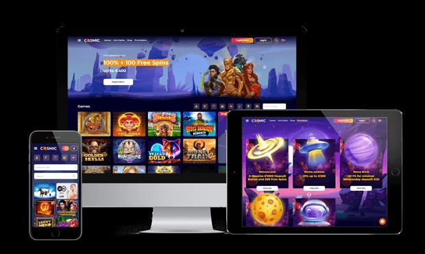cosmicslot casino website screens