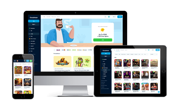 goodman casino website screens