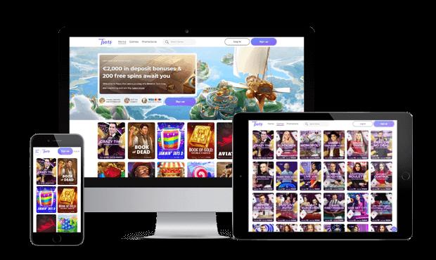 tsars casino website screens
