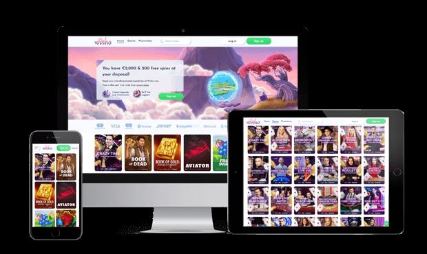wisho casino website screens