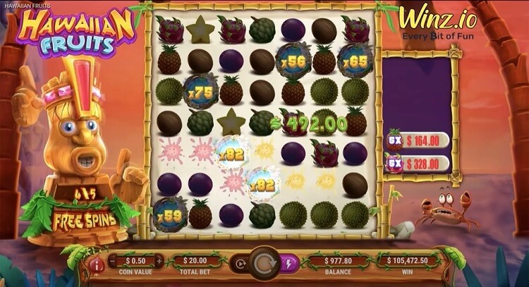 hawaiian fruits big win winz casino