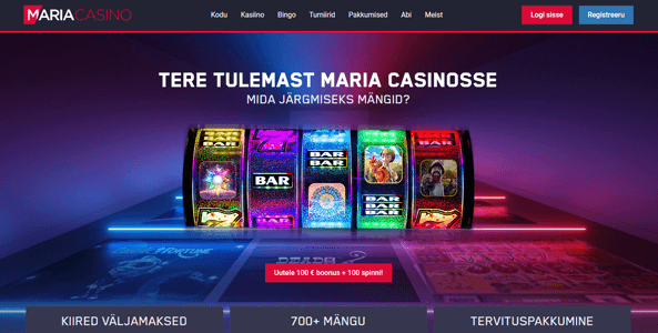 maria kasiino website screen