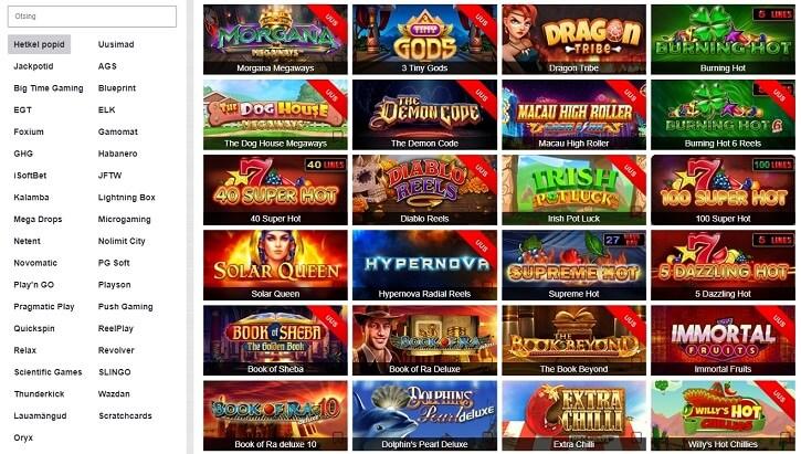 optibet kasiino slotid