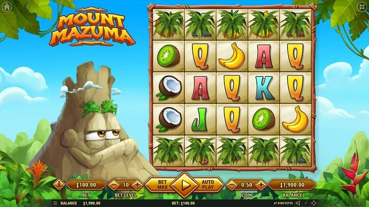 mount mazuma slot screen