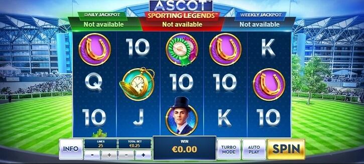 ascot sporting legends slot review