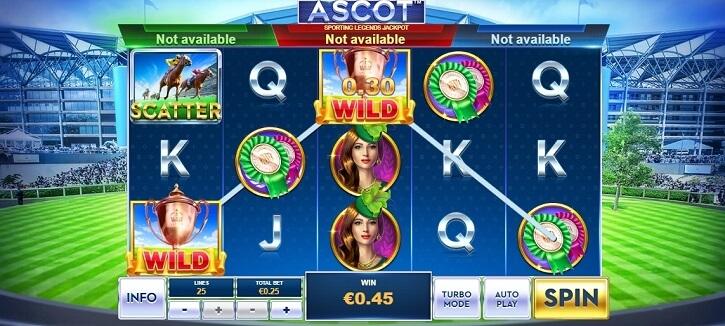 ascot sporting legends slot screen