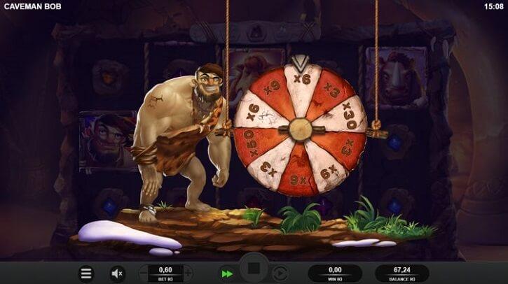 caveman bob slot bonus wheel