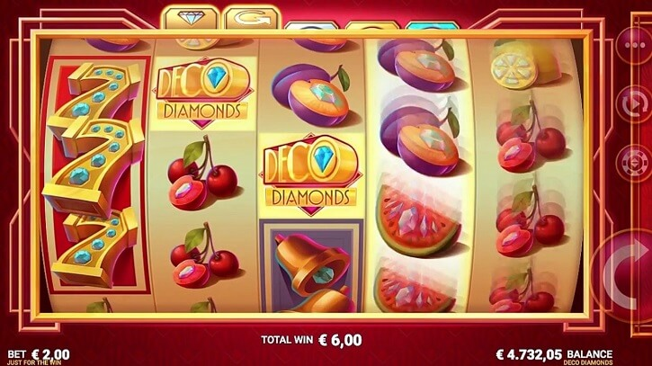 deco diamonds slot screen