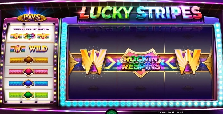 lucky stripes slot screen