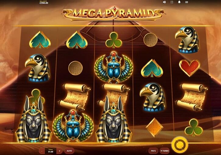 mega pyramid slot screen