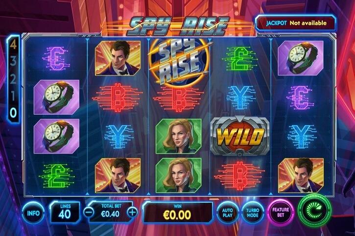 spy rise slot screen