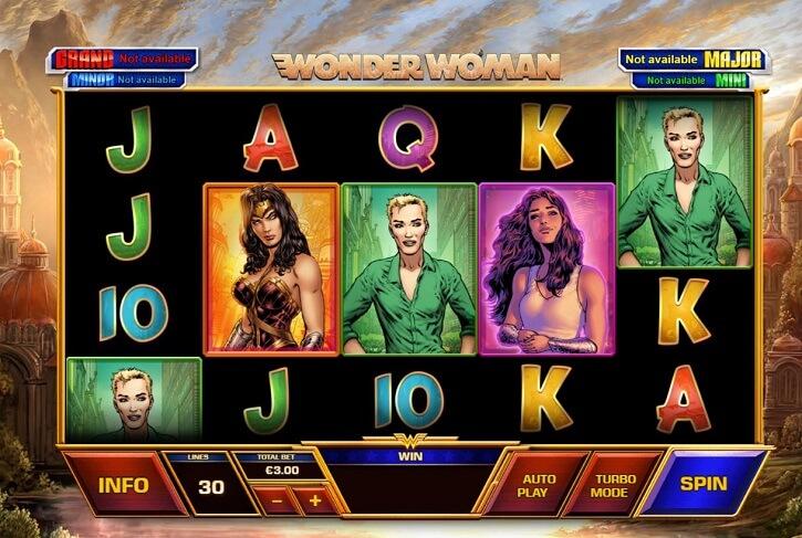 wonder woman slot screen