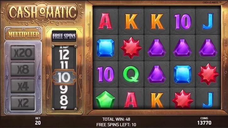 cashomatic slot screen
