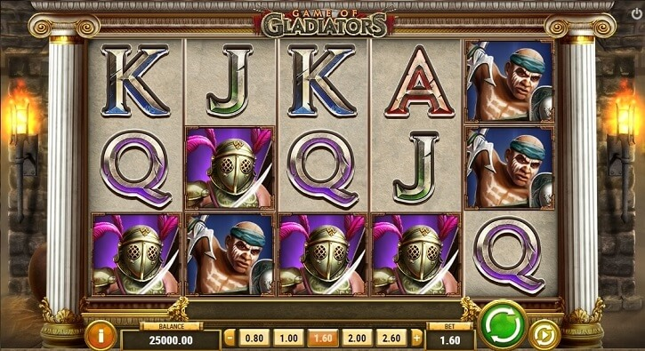 game of gladiators slot screen