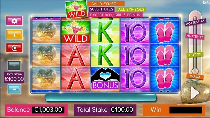 love island slot screen