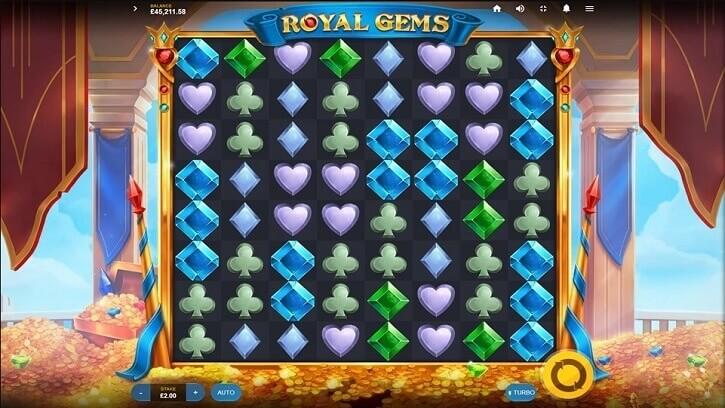 royal gems slot screen