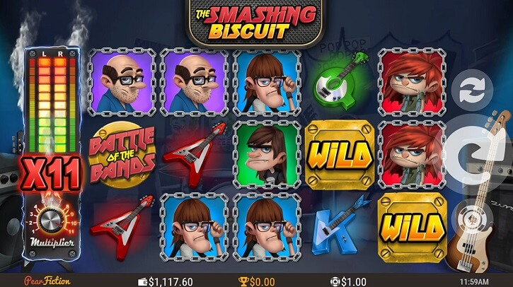 the smashing biscuit slot screen