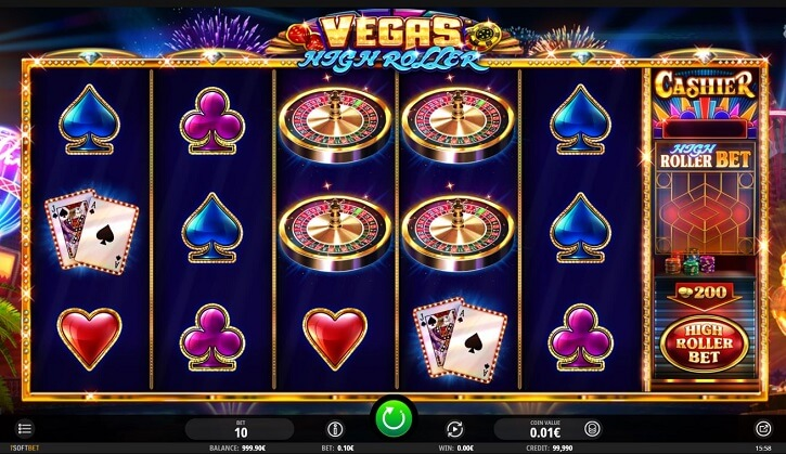 vegas high roller slot screen