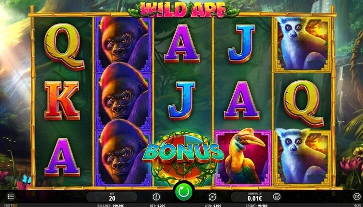 wild ape slot screen