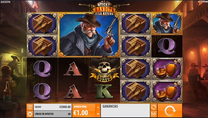 sticky bandits 2 wild return slot screen