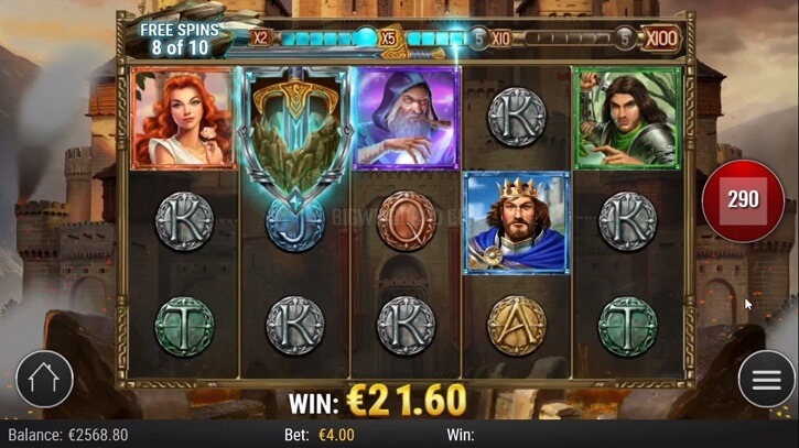 the sword and the grail slot freespins