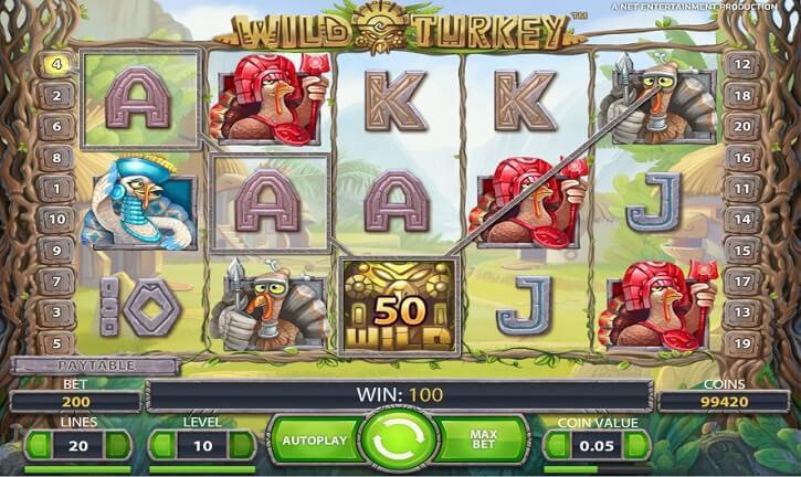 wild turkey slot screen