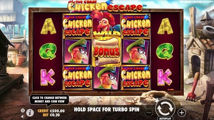 the great chicken escape slot screen