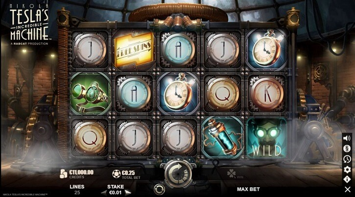 nikola teslas incredible machine slot screen