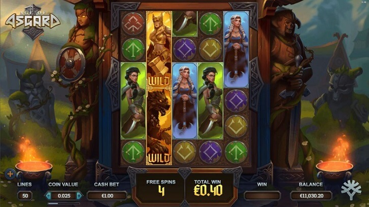 age of asgard slot screen
