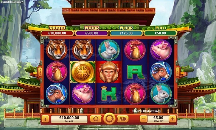 golden macaque slot screen