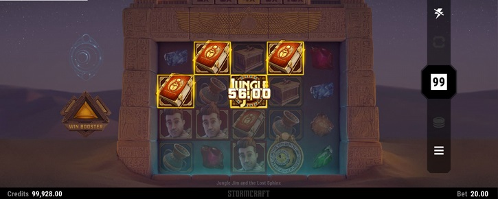 jungle jim and the lost sphinx slot screen