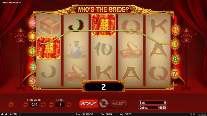 who is the bride slot screen