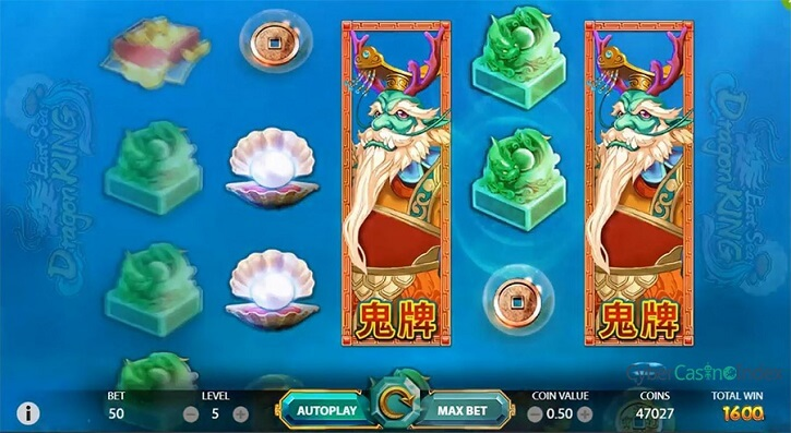 east sea dragon king slot screen
