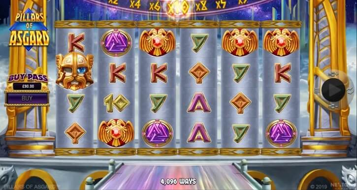pillars of asgard slot screen