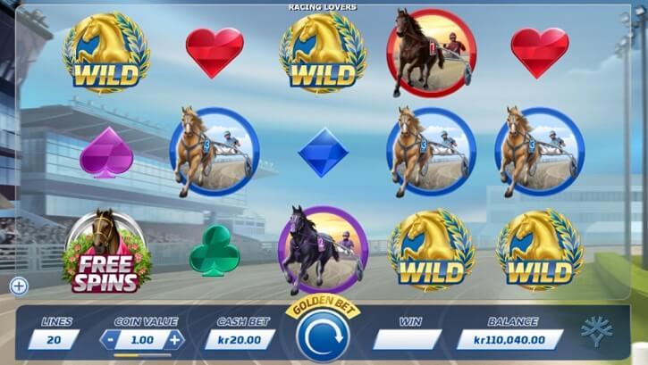 racing lovers slot screen