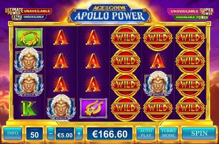 age of the gods apollo power slot screen