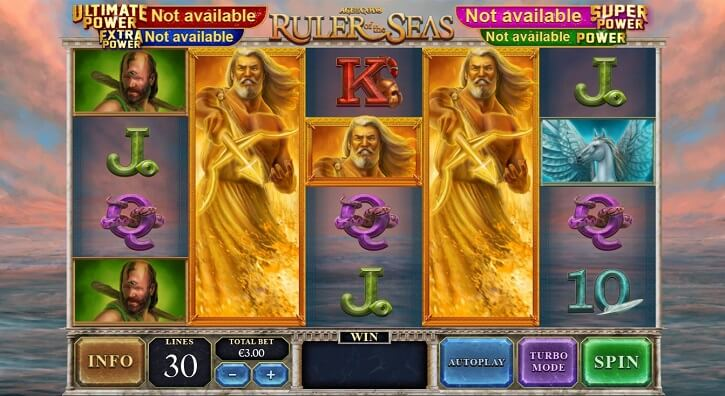 age of the gods ruler of the seas slot screen