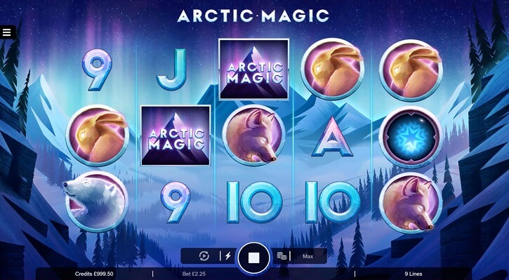 arctic magic slot screen