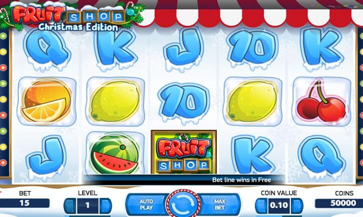 fruit shop christmas edition slot screen