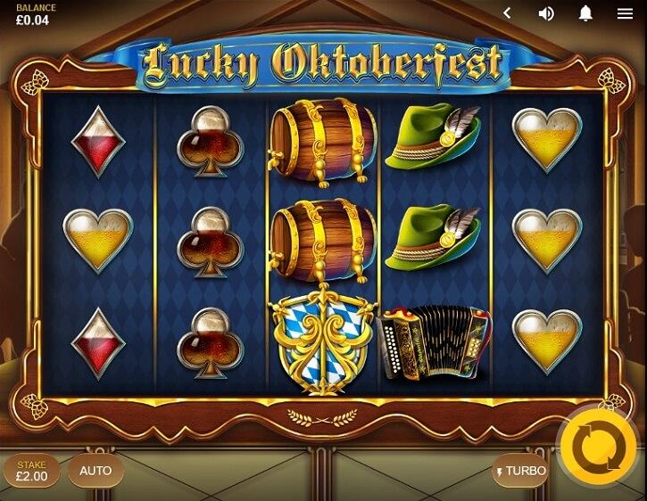 lucky oktoberfest slot screen
