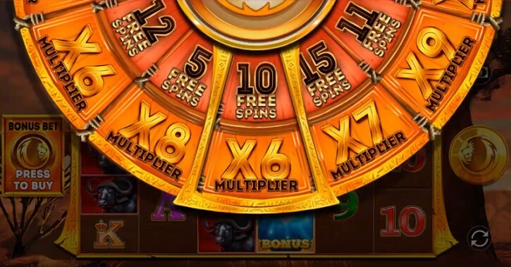 safari gold megaways slot wheel
