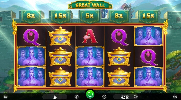 the great wall slot screen