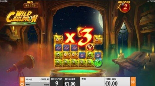 wild cauldron slot screen