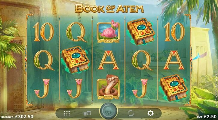 book of atem slot screen